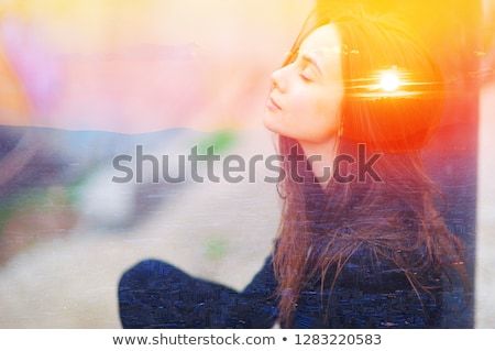 Yoga woman meditating. Chakra concept Stock photo © artfotodima