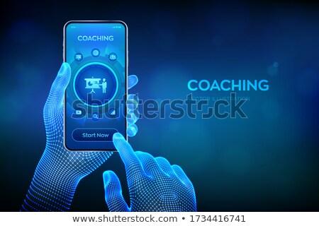 appel · smartphone · écran · homme · femme · téléphone - photo stock © robuart