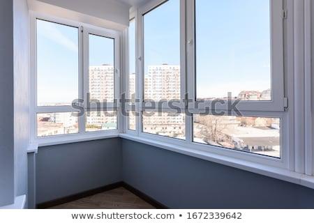 Erkély javítás falak tapéta festett barna Stock fotó © Kotenko