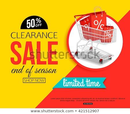 Sale banner template, big sale, online shopping, vector illustration. Stock photo © ikopylov