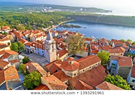 Foto stock: Ciudad · cuadrados · panorámica · vista · isla · Croacia