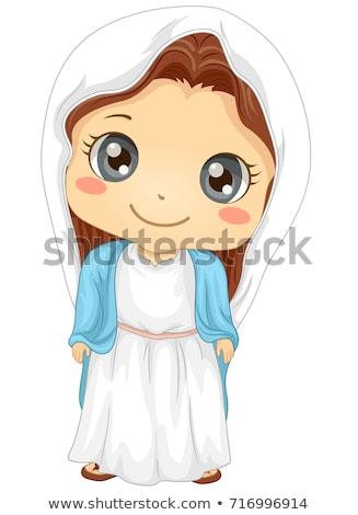 Kid ragazza vergine costume illustrazione indossare Foto d'archivio © lenm