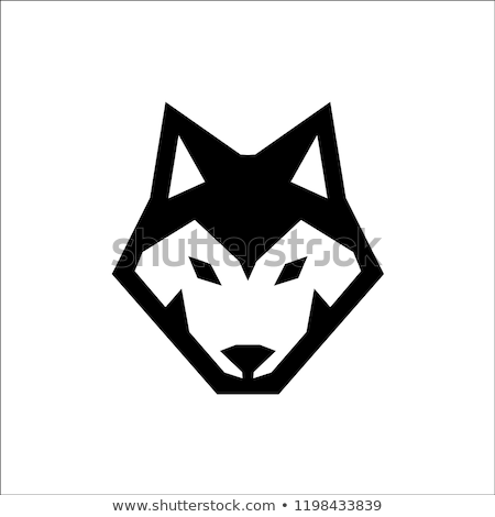 голову Husky иллюстрация собака искусства синий Сток-фото © bluering