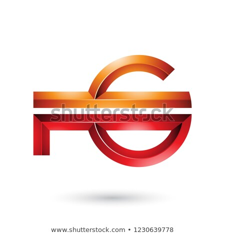 orange and red abstract key like symbol vector illustration stock photo © cidepix