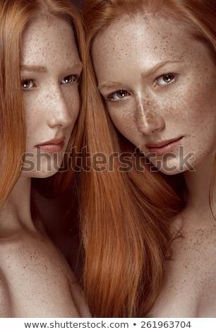 Due attrattivo donne glamour trucco Foto d'archivio © NeonShot