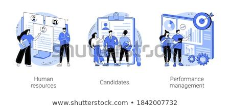 Software ordenador humanos recursos Foto stock © RAStudio