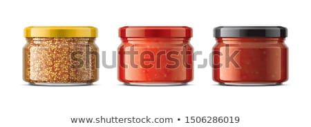 Black and Green Olives Preserved Food in Glass Jar Stock photo © robuart