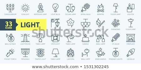 Lantern icon Stock photo © smoki