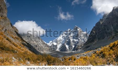 Otono montanas superior Georgia nubes cáucaso Foto stock © Kotenko