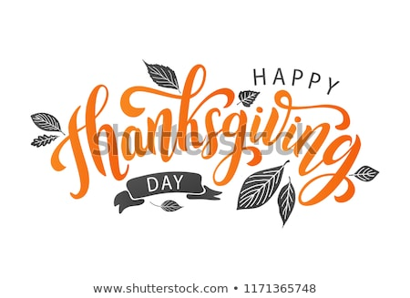 happy thanksgiving day poster text turkey vector stock photo © robuart