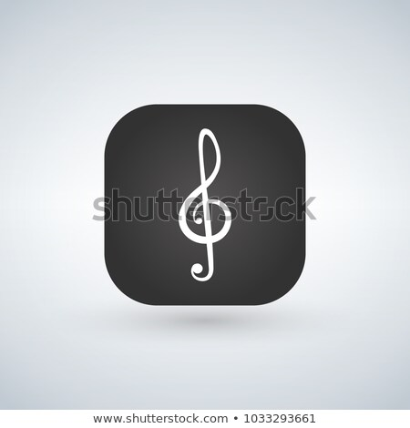 Illustration of a square application button with a g clef. Stock photo © kyryloff