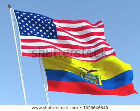 2 フラグ 米国 エクアドル 孤立した ストックフォト © MikhailMishchenko