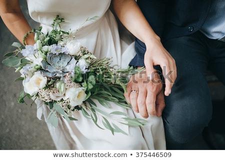 Beyaz çiçekler güller sandalye Stok fotoğraf © ruslanshramko