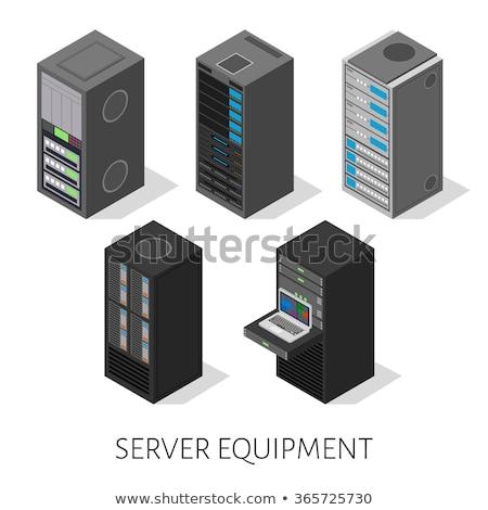 вектора изометрический сервер оборудование центр обработки данных Сток-фото © tele52