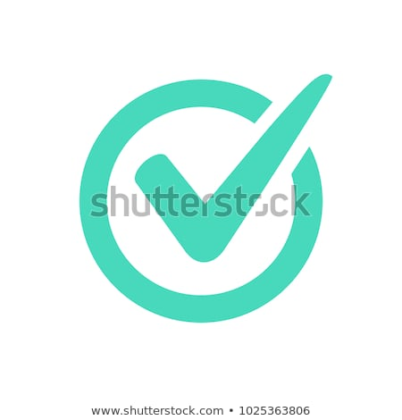 Green check mark icon in a box. Tick symbol in black color, vector illustration. Stock photo © kyryloff
