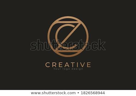 Brief logo teken cirkels corporate Stockfoto © blaskorizov