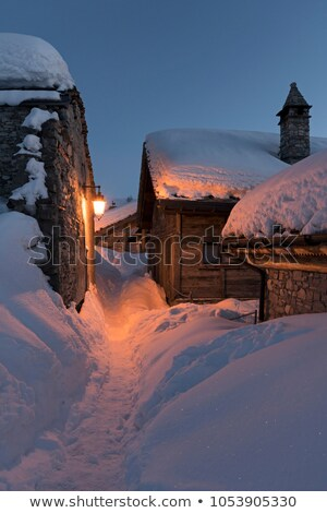 Enchanted wooden house at night Stock photo © colematt