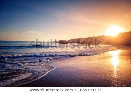 Hermosa puesta de sol Costa Rica rojo cielo playa Foto stock © Lopolo