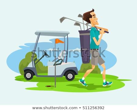 businessman playing golf vector illustration stock photo © rastudio