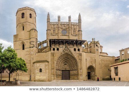 Huesca cathedral in Spain Stock photo © LianeM