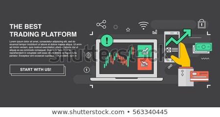 Dollar · Leuchter · Tabelle · Symbol · finanziellen - stock foto © ussr