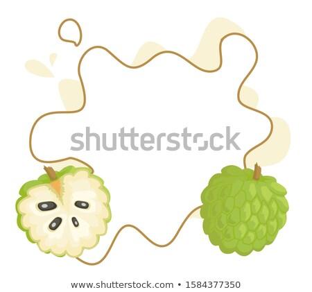 заварной крем плакат кадр текста яблоко экзотический Сток-фото © robuart