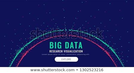 Duży danych cząstka schemat Zdjęcia stock © SArts
