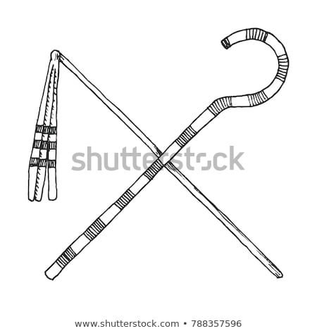 Sketch a Crook And Flail, originally th attributes of the god Osiris that became insignia of pharaon Stock photo © Arkadivna