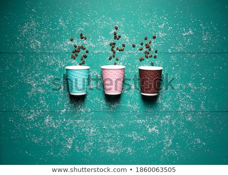 Plastic Cups Strewn on White Stock photo © make