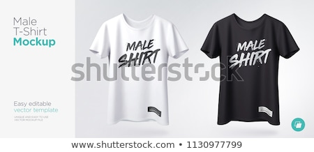 Set of colored sport T-shirts, vector illustration. stock photo © kup1984