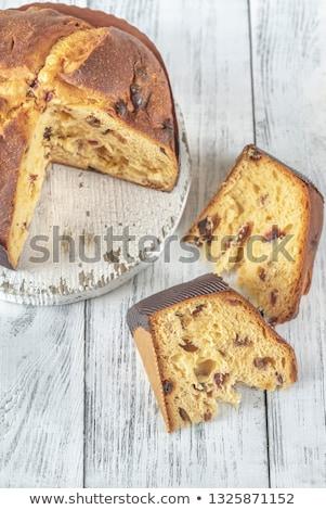 Keresztmetszet fehér fából készült gyümölcs háttér kenyér Stock fotó © Alex9500