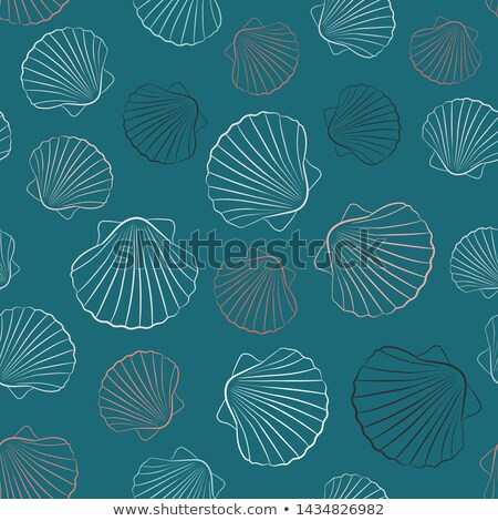 Beach color outline isometric pattern Stock photo © netkov1