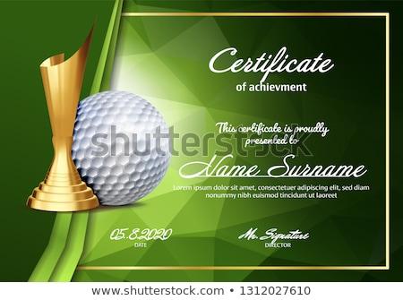 golf · adjudicación · vector · pelota · de · golf · dorado · taza - foto stock © pikepicture