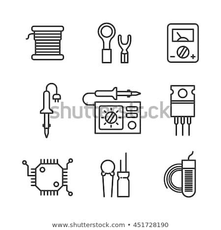 elektrik · mıknatıs · ikon · parlak · düğme · dizayn - stok fotoğraf © angelp