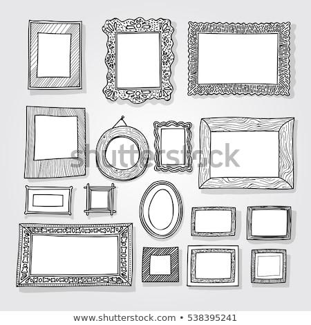 PhotoFrame set pattern Stock photo © netkov1
