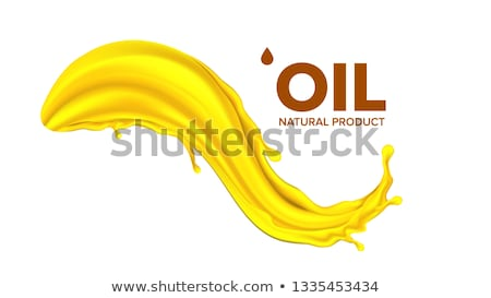 Oil Splash Vector. Liquid Drop. Gold Droplet. Olive, Flow. Fuel Wave. Gas, Collagen. 3D Realistic Is Stock photo © pikepicture
