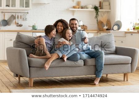 online · vásárlás · vektor · anya · apa · gyermek · vásárlás - stock fotó © robuart