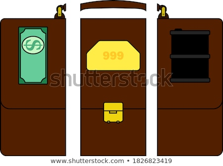 Oil, dollar and gold dividing briefcase concept icon Stock photo © angelp