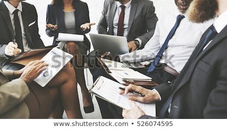 Brainstorming séminaire équipe employés de bureau problèmes Photo stock © robuart