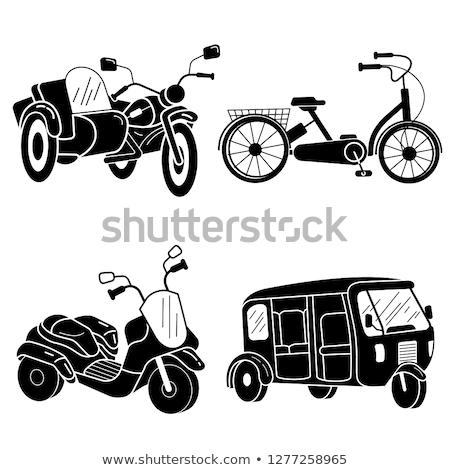 küçük · üç · tekerlekli · bisiklet · çocuk · bisiklet · örnek · yalıtılmış - stok fotoğraf © angelp