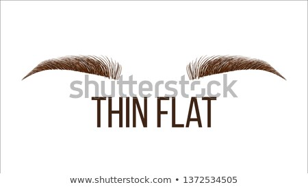 Thick Flat Brows Shape Vector Web Banner Template Stock photo © pikepicture