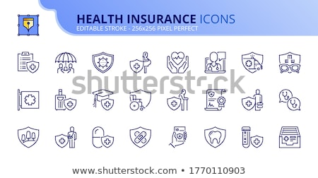 Dental Diagnostic Line Icon Stock photo © smoki