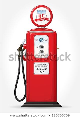 Retro edad gasolinera bombear coche gas Foto stock © feverpitch
