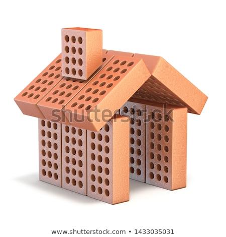 строительство · материальных · кирпича · склад - Сток-фото © djmilic