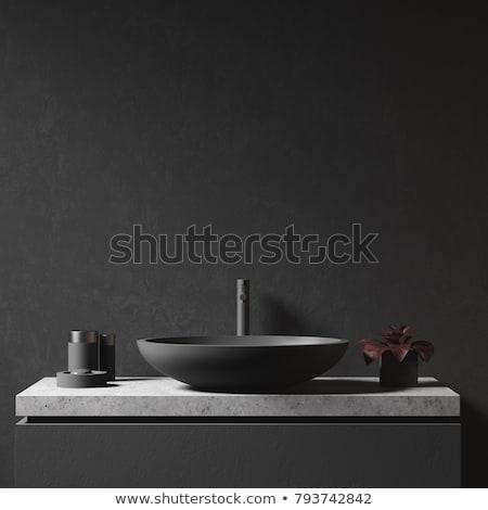 Kellékek mosdókagyló vízcsap tiszta pult konyha Stock fotó © AndreyPopov