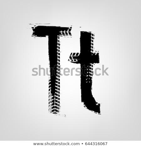 T betű autógumi gyerekek gyerekek oktatás levél Stock fotó © colematt