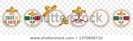 Mayonesa emblema establecer transparente eps 10 Foto stock © limbi007
