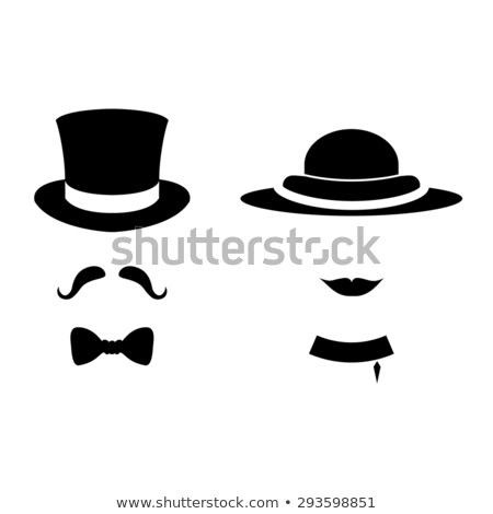 Vector set of man and woman hats pattern Stock photo © netkov1