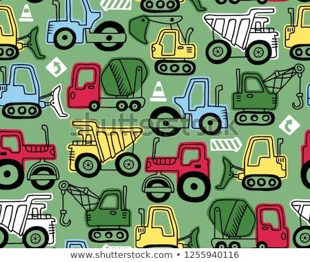 wektora · budowy · ikona · samochodu · ciężarówka - zdjęcia stock © netkov1