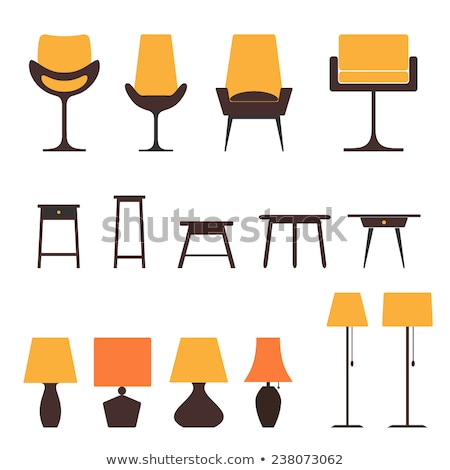 digital vector yellow furniture icons stock photo © frimufilms